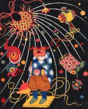 Peinture préparatoire pour Rozome / Alice Heit 2005