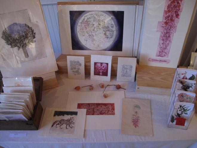 mon stand de gravures, Alice heit, estampes contemporaines