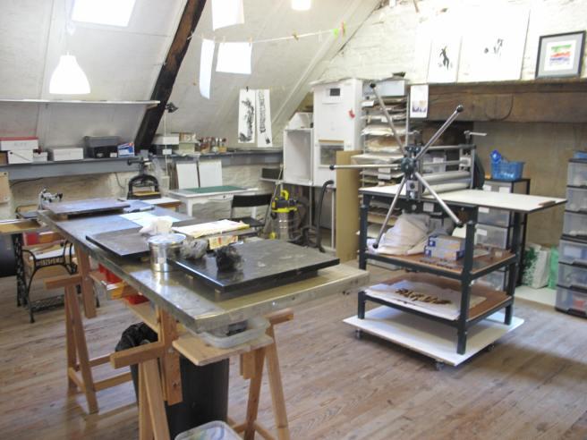 exposition de gravures à l'atelier blanc