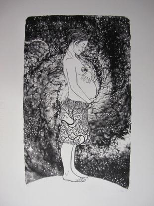 "Lithographie ""Galaxy Pregnancy"", Alice Heit 2017"