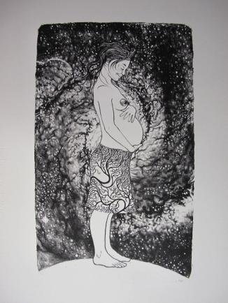 "Lithographie ""Galaxy Pregnancy"", Alice Heit 2017"