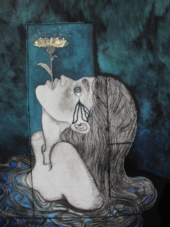 """gravure """"sparkling flower"""", Alice Heit 2017."""